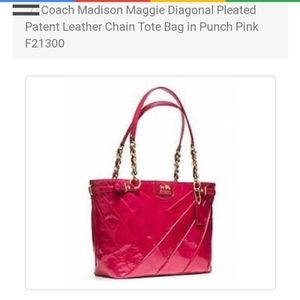 Coach Madison Tote Punch Pink